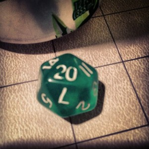This die was super lucky last night. Got me a crit!